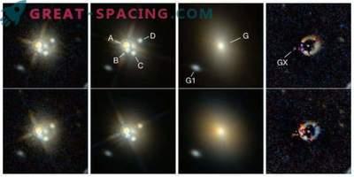 Einen ungewöhnlichen roten Quasar mit Gravitationslinsen gefunden
