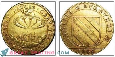 El patrón en una antigua moneda francesa del siglo XVII se asemeja a una nave alienígena. Opinión ufologov